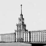 Краснодар. Здание Дома советов, проект № 13 архитектора Сухановской.