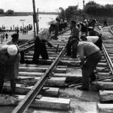 Краснодар. Реконструкция трамвайной линии в Пашковскую. Май 1949 г.