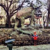 """Краснодар. В сквере """"Дружбы"""", 1987 год"""