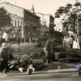 1949 год. Снятие трамвайных путей с ул. Красной