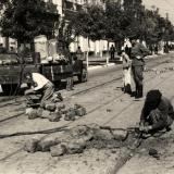 Краснодар. Снятие трамвайных путей на улице Красной, сентябрь 1949 год