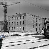 Краснодар. Строительство ДК ЗИП, 1955 год