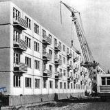 Краснодар, Строительство дома № 129 по улице Карла Либкнехта, 1962 год.