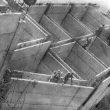 Краснодар. Стротельство дамбы Краснодарского водохранилища, 1970 год