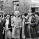 Краснодар. Студенты КПИ на Первомайской демонстрации. 1968 год.