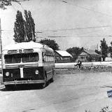 Краснодар. Троллейбус на углу улиц Северной и Щорса. 1953 год.