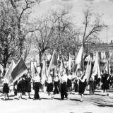 Краснодар. Ученики сш № 36 на демонстрации, 1960 год