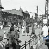 Краснодар. Угол ул. Красной и Ворошилова, вид на север, август 1942 года
