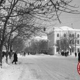 Краснодар. Угол улиц Мира и Красной, 1962 год, вид на север