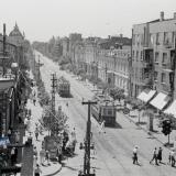 Краснодар. Улица Красная, вид на юг, от перекрёстка с Пролетарской, около 1938 года