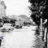 Краснодар. Улица Сталина после дождя, 4 июня 1954 года.