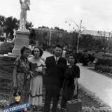 Краснодар. В только устроенном скверике Свердлова, 1955 год.