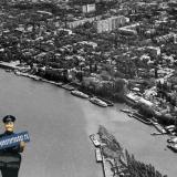 Краснодар. Вид на город со стороны реки Кубань.
