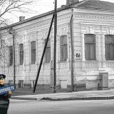 Краснодар. Вид на юго-восток с перекрёстка улиц Красной и Головатого. Красная 156. 18 декабря 1982 год