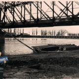 Краснодар. Вид на железнодорожный и автомобильные мосты, август 1942 года