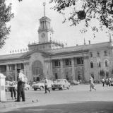 Краснодар. Вид на железнодорожный вокзал Краснодар 1. Август 1967 года