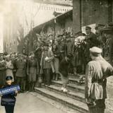 Краснодар. Встреча летчика Водопьянова М.В. на железнодорожном вокзале в Краснодаре, середина 1930-х