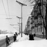 Краснодар. Зимним днём на улице Красной. 1962 год