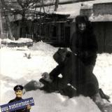 Краснодар. Зимним днем во дворе дома по Стасова, 10, 1988 год