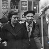 Краснодар. ЗИПовцы на демонстрации 7 ноября 1956 года.