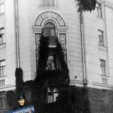 Краснодар. Жилой дом на углу улиц Красной и Ленина, 1988 год