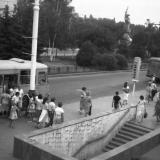 "Краснодар, Остановка кинотеатр ""Аврора"", 1989 год."