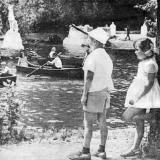 Кроаснодар. У пруда в парке им. М. Горького, 1968 год.