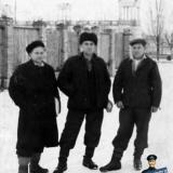Краснодар. У Северного трамвайного депо. Вид от перекрёсток улиц Красной и Одесской. 50-е годы.