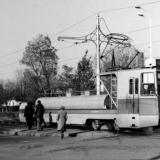 Краснодар. Грузовой трамвай на перекрёстке улиц Карла Либкнехта и Таманской.