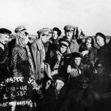"""Пластуновская. Съемки фильма """"Хмурое утро"""", 2 октября 1958"""