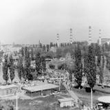 Краснодар. Вид с колеса обозрения в парке Солнечный Остров, 1988 год