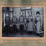 ст. Гиагинская. Фотограф Поздняков К.В. Добровольцы, около 1914 года