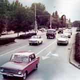 Краснодар. Улица Красная от ул. Бабушкина до ул. Хакурате. Апрель 1971 года.