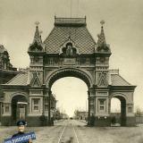 Екатеринодар. Триумфальная арка на Екатерининской улице, не позднее 1909 года.
