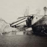 Взорванный мост недалеко от Темрюка (февраль 1943, точное место съемки неизвестно)
