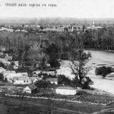 Майкоп. Вид на город с горы, до 1917 года.