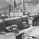 """Новороссийск. Цементный завод """"Пролетарий"""", 1967 год. Монтаж технологической линии"""