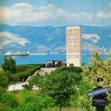 Новороссийск. Мысхако. Мемориальная стелла в память о высадке и героических боях на Малой земле