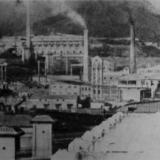 Новороссийск. Общий вид цементных заводов, 1931 год.