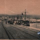 Новороссийск. Отъезд курортников с Восточного мола, около 1930 года