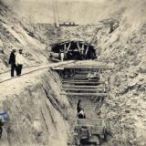 Строительство тоннеля, 1888 год