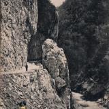 Красная поляна. Шоссе в Красную Поляну, ущелье Ахцу, около 1914 года
