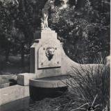 Сочи. Дендрарий. Бассейн с купальщицей, 1950 год