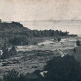 №17. Виды в районе строящейся Черноморской ЖД. Устье р. Макопсе. У берега моря проектируется мост