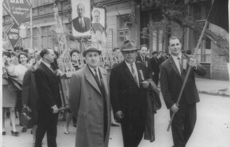 Краснодар. 1 мая 1969 года. Сотрудники Объединения Краснодарнефтегаз на демонстрации
