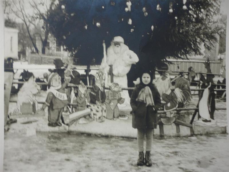 Краснодар. У новогоднй ёлки в горпарке, 10 января 1965 года
