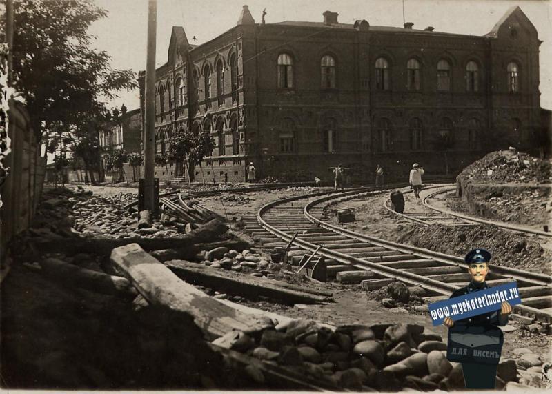Краснодар. Угол улиц Мира и Кирова, май 1934 года