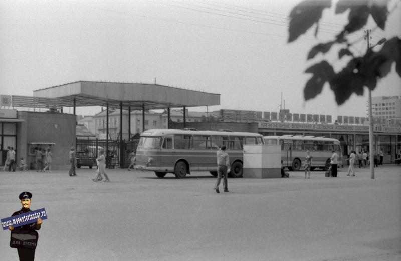 Краснодар. Автостанция возле Колхозного рынка, 1978 год.