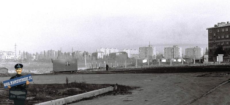 Краснодар. Черемушки у Карасуна, 1978 год.