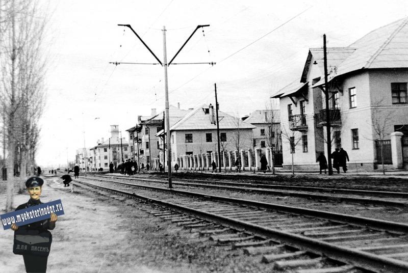 Дома поселка ТЭЦ в поселке Пашковском, 1957 год.